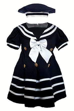 Amazon Unotux Baby Girl Toddler Sailor Nautical Navy