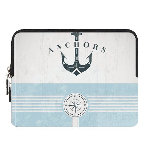 Vintage Design Template With Anchor New Custom Zipper Sleeve for IPad1,IPad2,IPad3,IPad4 (two sides)