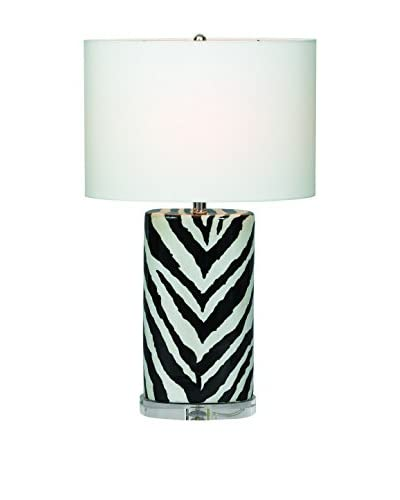 City Scape Kenya Black Oval Lamp, Black