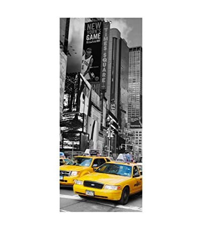 Ambiance Live Wall Decal Deur Time Square en taxi's