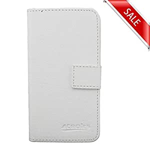 Kyocera Hydro Icon / Hydro Life White Flip Wallet Folio Protective Phone Case by ThePhoneCovers