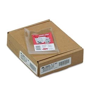 Oxford 65005 Utili-jacs clear vinyl envelopes, top load, 3 x 5 insert size, 50/box