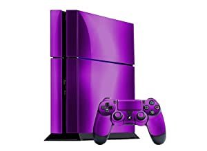 Sony PlayStation 4 Skin (PS4) - - PURPLE CHROME MIRROR system skins faceplate decal mod