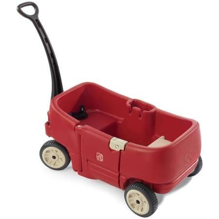 Step2-Durable-Kids-Wagon-For-2-Plus-Red-with-2-Contour-Seats-with-2-Seat-Belts-2-Molded-in-Cup-Holders-Can-Accomodate-Cans-Cups-or-Juice-Boxes