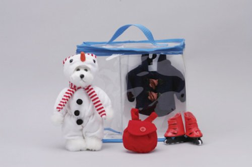 Bears-to-Go Snowman Dress Up Set in Carrying
