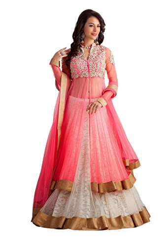 Clickedia-Womens-Net-With-Heavy-Work-Pink-White-Lehenga-Suit-Dress-Material