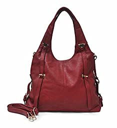 Sori Collection No. 678 Hobo with Spacious Compartment (Red)