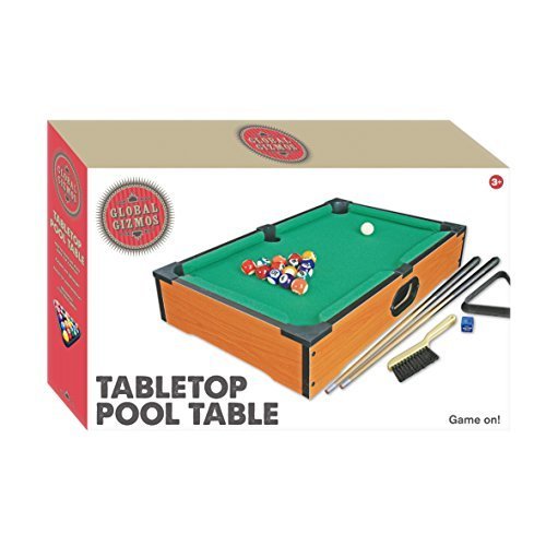 Global Gizmos 50 x 30 cm Deluxe Table Top Pool Game/Snooker Table Game by Global Gizmos