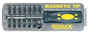 Steelex D2032 Magnetic Tip Screwdriver Bit Set, 30-Piece