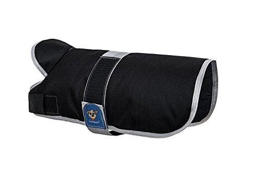 Knuffelwuff 13873-014 Hundemantel Funktionstextil mit Kragen, 35 cm, schwarz -