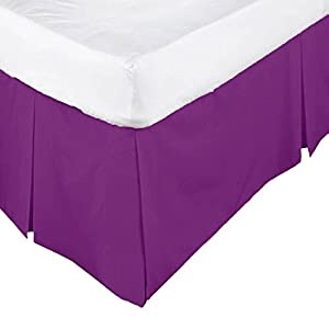 •ROHILinen• Luxury 68 Pick Aubergine Super King Base Valance sheet: Free UK Delivery ✔ Low Price ✔ Same Day Dispatch ✔