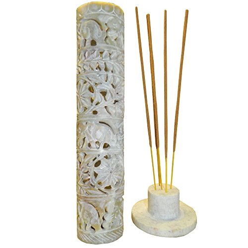 Porta inciensos esteatita 27 cm elefante planta incienso titular