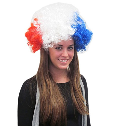 Red, White, and Blue Alfro Wig - Patriotic Wig