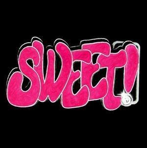 Graffiti Expressions Belt Buckle - Sweet!