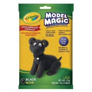 6 Pack MODEL MAGIC 4oz PACK BLACK Drafting, Engineering, Art (General Catalog)