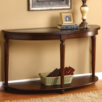 Cheap Enitial Lab Caleb Demilune Console Table – Dark Cherry (IDF-4131S)