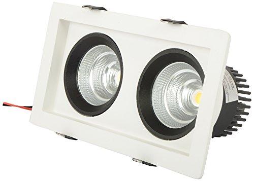 Spark LED Double Down Light recessed model (6000k,18 Watt)