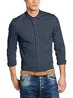 Primo Emporio Camisa Hombre (Azul)