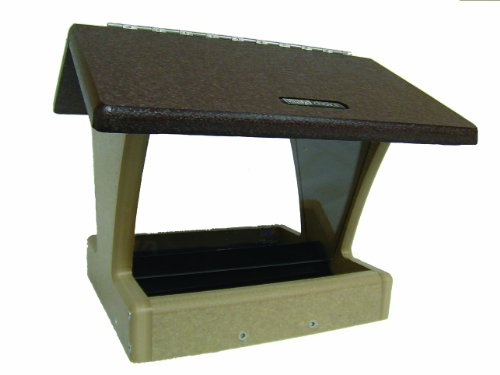 Birds Choice 4 qt. 2-Sided Hopper with Brown Roof