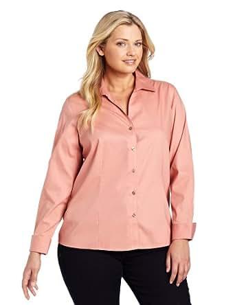 Jones New York Women 39 S Plus Size No Iron Easy Care Shirt