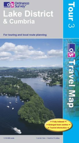 Lake District and Cumbria (OS Travel Map - Tour Map)
