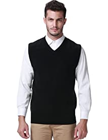 SSLR Men's Candy Color Sweater Vest Pullover