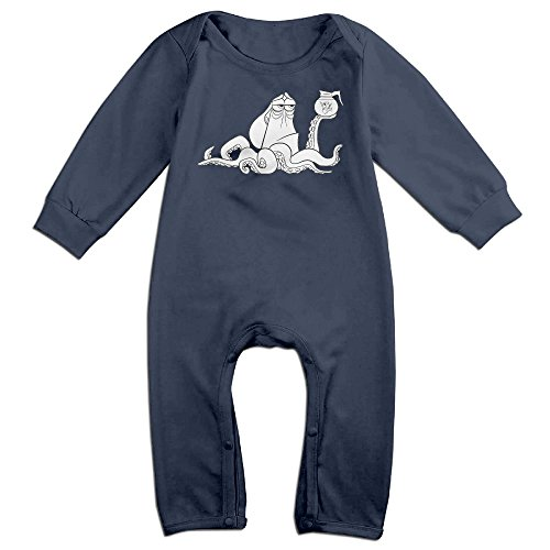 [Kamici Inflant Findor Octopus Hanklye Fish Long Sleeve Romper Jumpsuits Navy 18 Months] (Matt Barkley Costume)