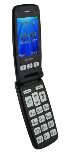 Swissvoice MP40 GSM Großtasten Mobiltelefon (Farbdisplay, Notruftaste, 0.3 Megapixel Kamera) schwarz