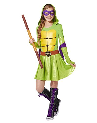 Spirit Halloween Kids' Hooded TMNT Dress Costume - Teenage Mutant Ninja Turtles (Girls Ninja Turtle Costume compare prices)