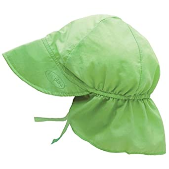 Iplay Baby Infant Toddler Unisex Solid Color Flap Sun Hat / Beach Hat by Iplay - Lime - 0-6 Mths