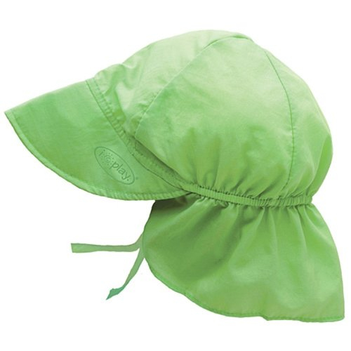 I Play. Unisex-Baby Infant Solid Flap Sun Protection Hat, Lime,Infant/6-18 Months front-989984