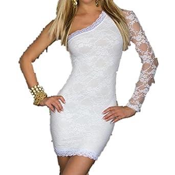 Autek Sexy Ladies Corset Bustier paquet hanche jupe de mode Overbust Spandex Corset pour Femme de sept couleurs # 3731 (S, blanc)