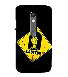 printtech Zombie Warning Back Case Cover for Motorola Moto X Play / Motorola Moto X Play Dual SIM