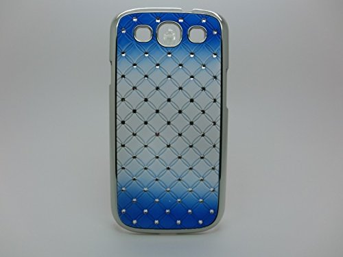 Maclogy 2014 Latest Fashion Design Luxury Dazzling Rhinestones Shiny Crystal Diamond Plating Protective Shell Trapped Difficult Cases Gradient Series Samsung Galaxy S3 I9300 And Fashion Chain Crystal Ornaments Color Uv Radiation Gifts(Blue)