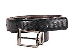 Nerita Men Reversible Belt(Art_Leather_Black&Brown_515)
