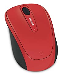 Microsoft Wireless Mobile Mouse 3500 Limited Edition - Flame Red Gloss