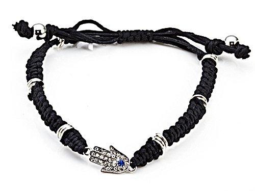 Adjustable Rhinestone Hamsa Bracelet in Base LIFETIME WARRANTY