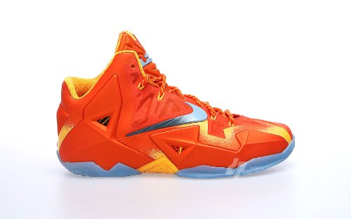 Nike Lebron XI Preheat Orange 626376 800 size 8