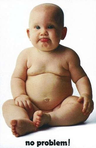No Problem! - Poster (Cute Fat Baby) (Size: 24'' x 36'')