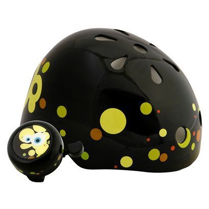 Child Spongebob Hardshell Helmet With bell - Black