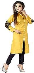New Fashion Yellow Cotton Kurti