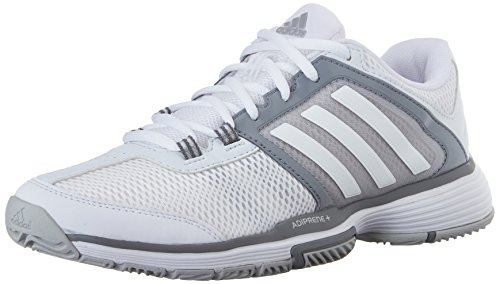 Adidas Performance Women's Barricade Club Training Shoe,White/White/Clear Grey,8 M US
