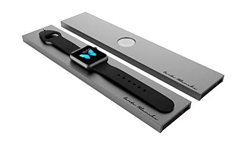 Boostcase Bloc-Station de charge sans fil pour Apple Watch avec une batterie intégrée de 2000mAh, couleur gris foncé