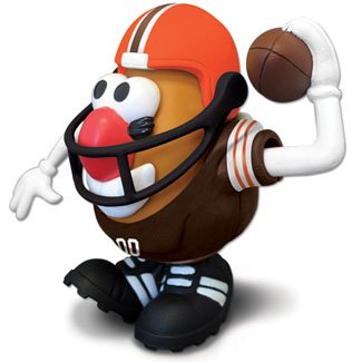 Buy Low Price Promotional Partners Worldwide NFL Cleveland Browns Mr. Potato Head Figure (B001HBCVWG)