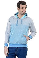 Enquotism Ombre print Designer Grey Hoodie Sweatshirt