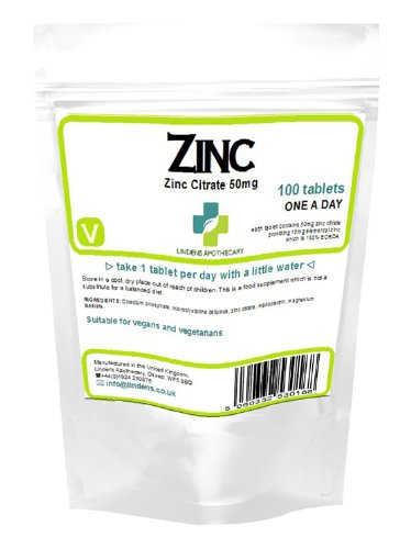 Zinc Citrate 50mg / 100 Tabletten