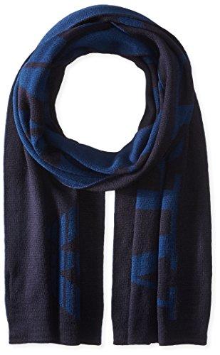 Armani Jeans sciarpa uomo in lana blu