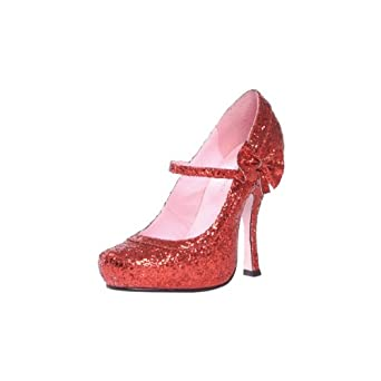 Ruby Glitter Red Adult Shoes - 9 - Accessories & Makeup