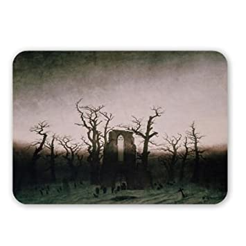 Abbey in the Oakwood, 1810 (oil on canvas).. - Mouse Mat Art247 Highest Quality Natural Rubber Mouse Mats - Mouse Mat