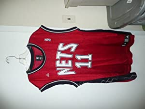 NBA Adidas Authentics Jersey Brook Lopez #11 New Jersey Nets Old Alternate Jersey Red by adidas